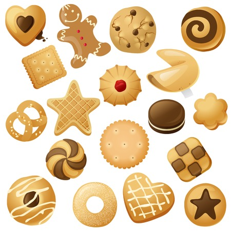 18 cookie icons  for your designs 版權商用圖片 - 32610205