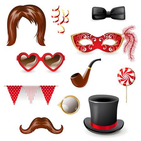 funny mask: Retro - styled masquerade elements