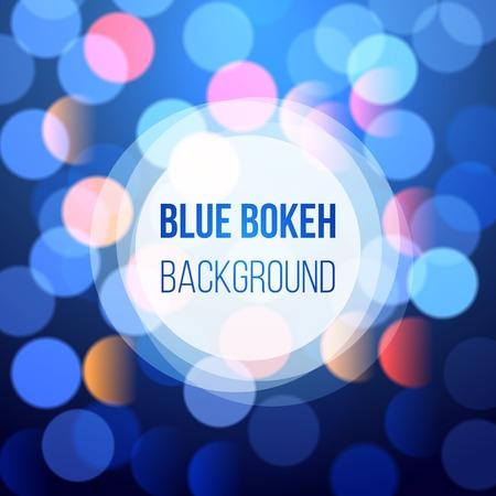 background design: blue bokeh lights for your designs