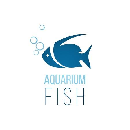 logo poisson: Aquarium mod�le de logo de poissons sur fond blanc