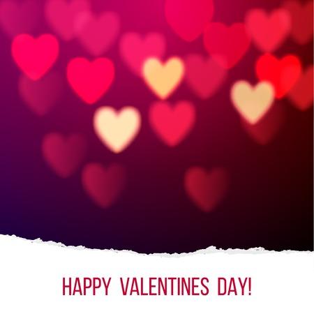 Shiny hearts bokeh Valentines day background