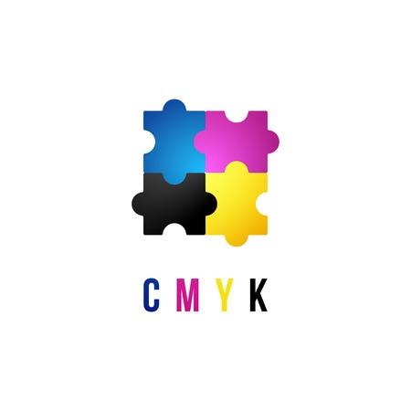 CMYK template on white background Vetores