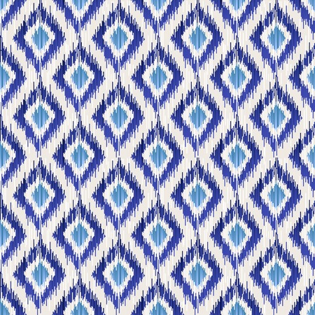 Blue traditional ikat seamless pattern