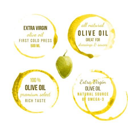 9 taches d'huile traces avec des dessins de type