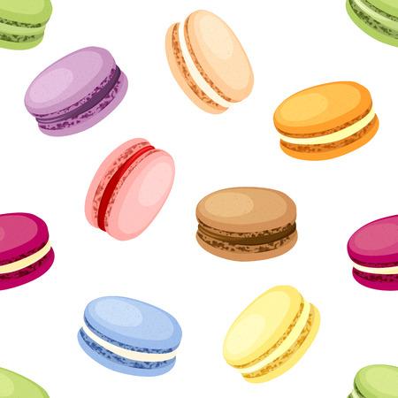 Set van 9 verschillende smaak bitterkoekjes Stock Illustratie