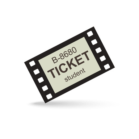 avia: Vintage ticket on white background