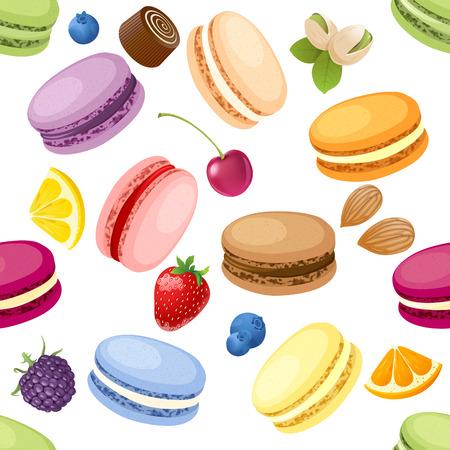 Set of 9 different taste macaroons