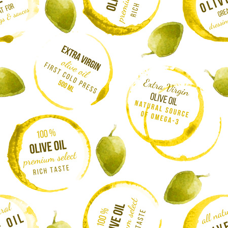 crop circle: oil stains seamless pattern with type designs Illustration