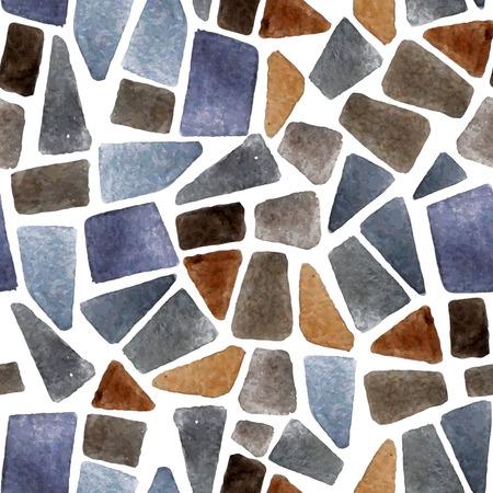 Aquarel naadloze steen textuur voor uw ontwerpen