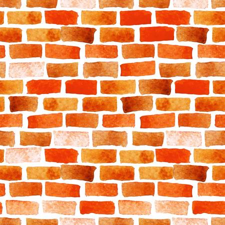 벽돌 벽 수채화 원활한 텍스처 일러스트