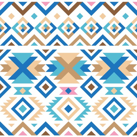 american indian aztec: colorful geometry tribal seamless pattern