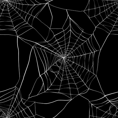 cobwebby: Seamless pattern with spider web. Made with clipping mask Illustration