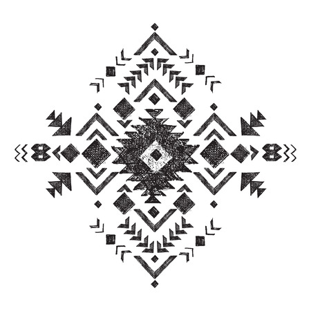 black and white tribal design element