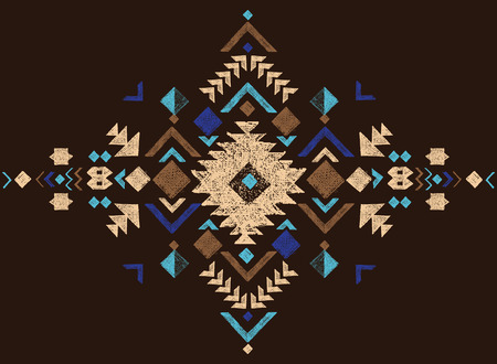 tribal: colorful tribal design element Illustration