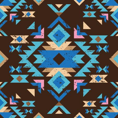 colorful geometry tribal seamless pattern