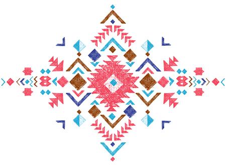 tribales: colorido dibujado a mano elemento de diseño tribal