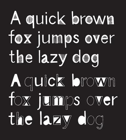 grotesque: 2 hand drawn alphabets - grotesque collection