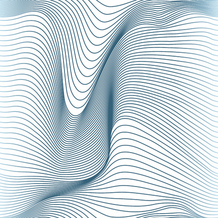 curve line: abstract wavy lines seamless pattern Illustration