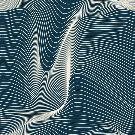 abstract wavy lines seamless pattern Çizim