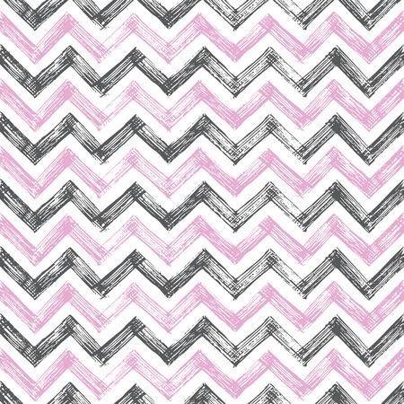 vintage zigzag hand drawn pattern
