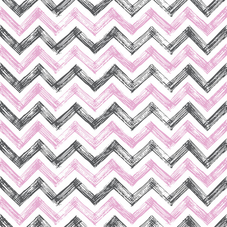 vintage zigzag hand drawn pattern