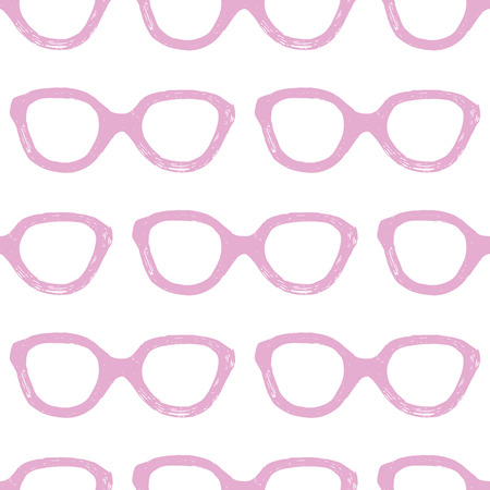 spectacle frame: Hand drawn seamless pattern with glasses