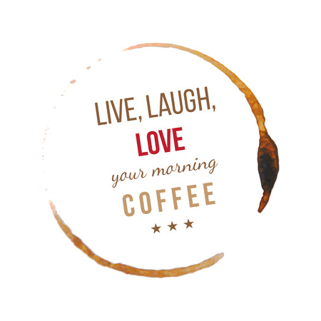 type: Coffee stains with type design about coffee Illustration