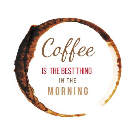 Plamy z kawy typu konstrukcji o kawie Ilustracje wektorowe