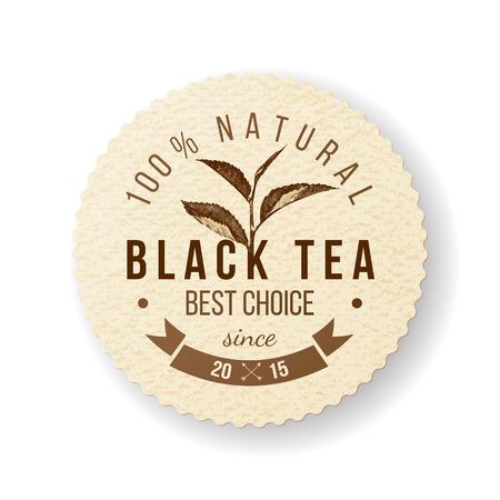 black tea: Black Tea round paper label
