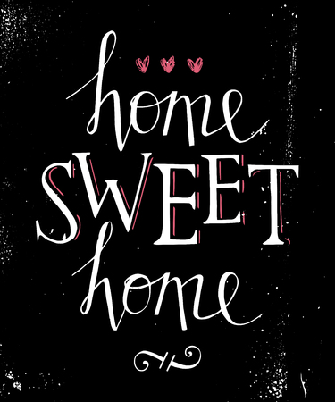 homely: Sweet home hand lettering poster