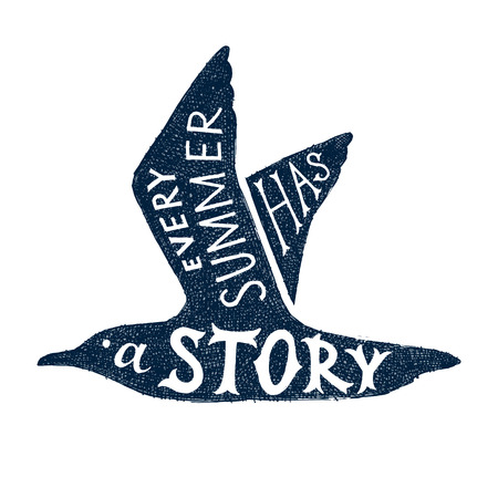 Every summer has a story - hand drawn lettering Vector Illustration