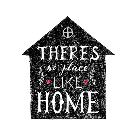 homely: there is no place like home lettering poster