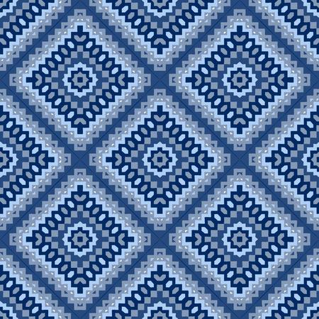 Ethnic hand drawn seamless pattern. Illustration