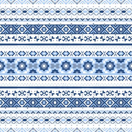 Ethnic hand drawn seamless pattern. Vector Illustration