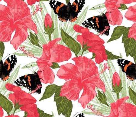 Tropical seamless pattern Illustration