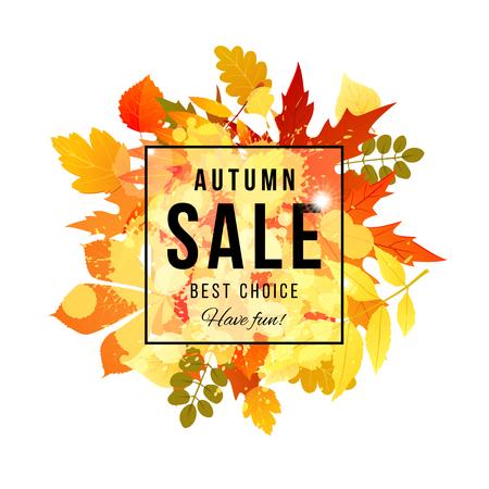 秋発売の最良の選択は、楽しい時を過すバナー  イラスト・ベクター素材