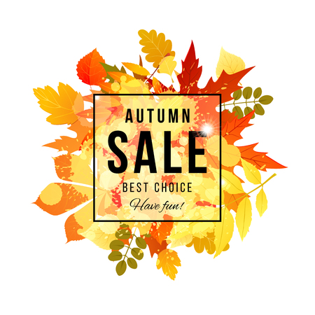 Autumn sale best choice have fun banner Иллюстрация