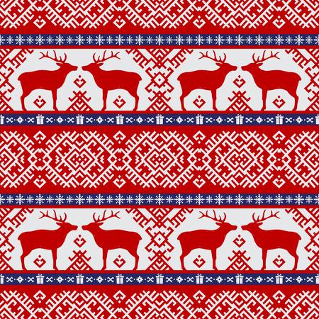 Deer pattern in red Ilustração