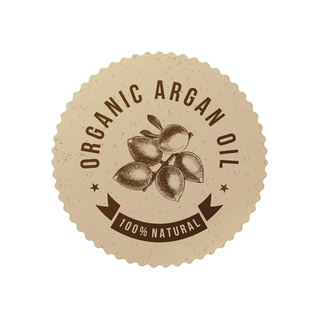 Organic argan oil emblem