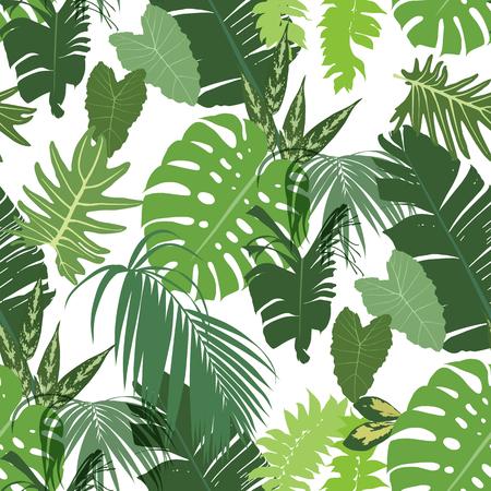 Vector seamless tropical pattern Stock Vector - 87404728