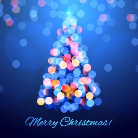 bright: Christmas tree background