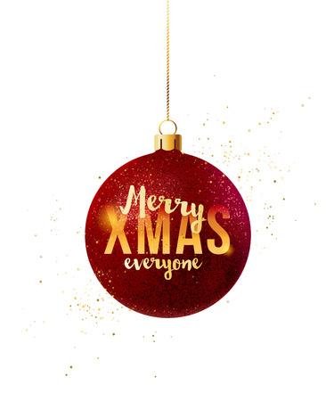 メリー クリスマス クリスマス ボールでみんなを入力