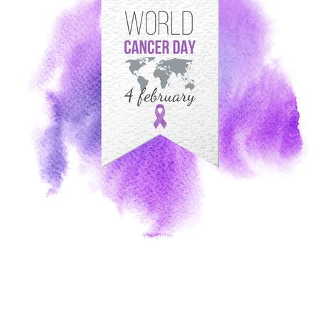 World Cancer Day Awareness emblem