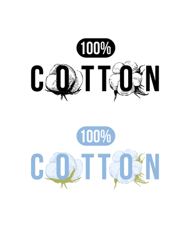 100 percents cotton logo