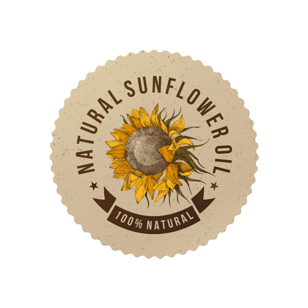 Sunflower oil emblem