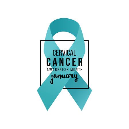 Cervical cancer support ribbon.