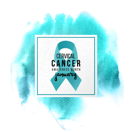 Cervical cancer support emblem