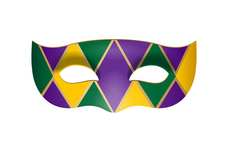 Bright carnival masquerade mask with rhombus. Vector illustration Ilustrace