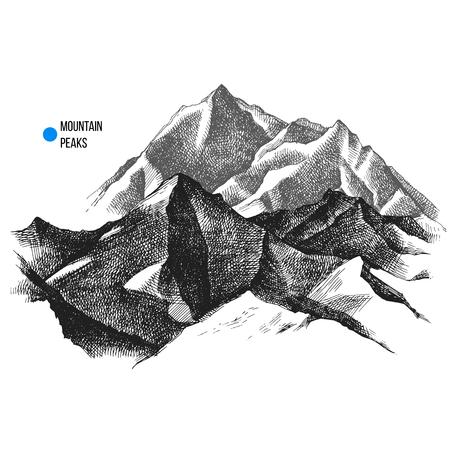 山頂の背景  イラスト・ベクター素材