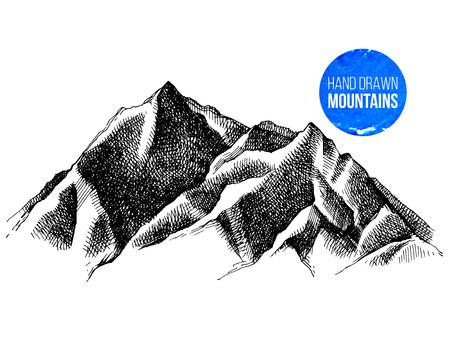 산봉우리 배경